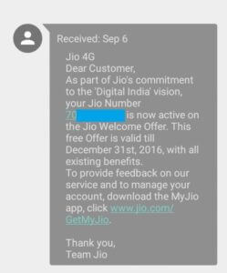 Reliance Jio Migrating Subscribers to Welcome Offer