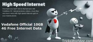 Vodafone Official Trick Get Free 10 GB Internet Data