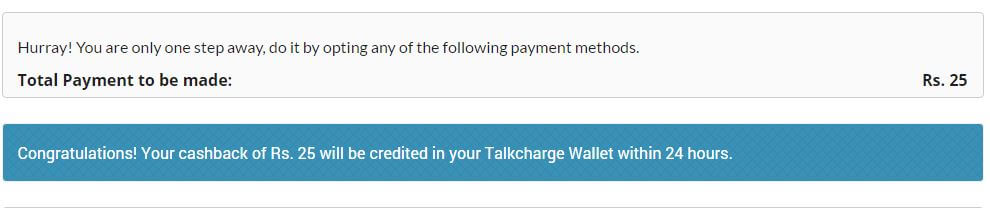 Promo Code Coupon TalkCharge Get Free Rs 50 Mobile Recharge at Rs 25
