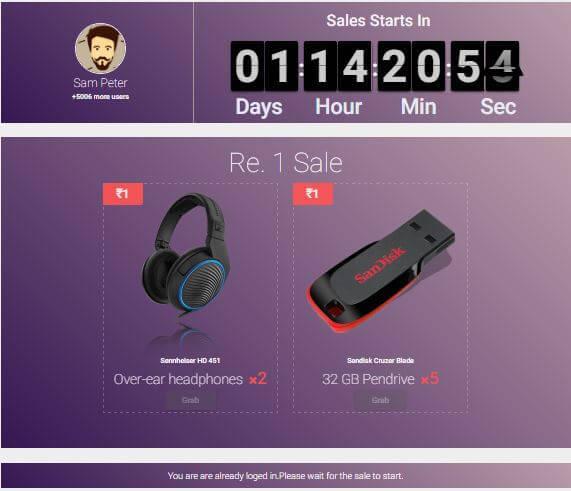 Eyezon Rs 1 Flash Sale