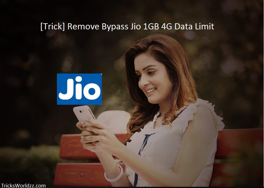 Trick Remove Bypass Jio 1GB 4G Data Limit