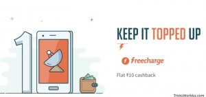 Freecharge Get Rs 50 Cashback on Minimum Recharge of Rs.50