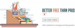 Flat 100% Freecharge Full Cashback Coupons February