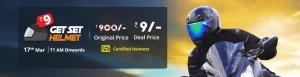 Buy Helmet Online at Just Rs. 9 on Droom Flash Sale