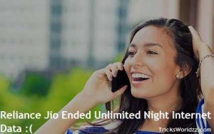 Reliance Jio Ended Unlimited Night Internet Data from 1st April 2017