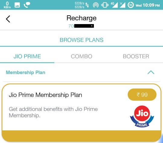 Make Payment and get Reliance Jio Prime Membership