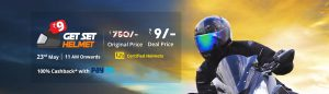 Buy Helmet Online at Just Rs. 9 on Droom Flash Sale