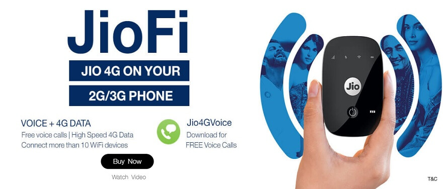 Get Free Reliance Jio JioFi Device on Exchange of your old dongle, data card & router.