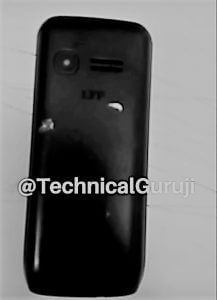 Reliance Jio 4G VoLTE LYF Featured Phone Rs 999 Back view.