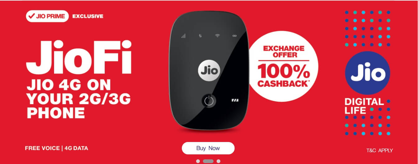 It's getting out of stocks now :o Get Free #Reliance #Jio #JioFi Device on Exchange of your old dongle, data card & router