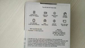 Reliance Jio 4G VoLTE Box Packing