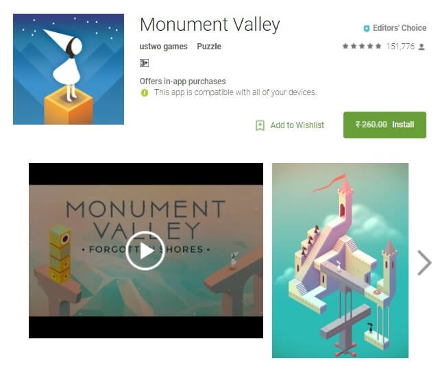 Monument Valley Puzzle Game Editor Choice