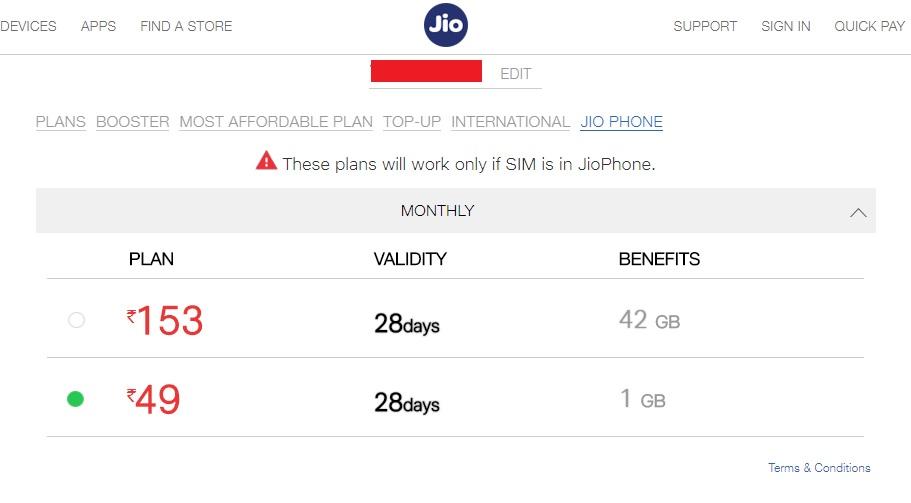 Trick Use JioPhone Rs 49 Plan