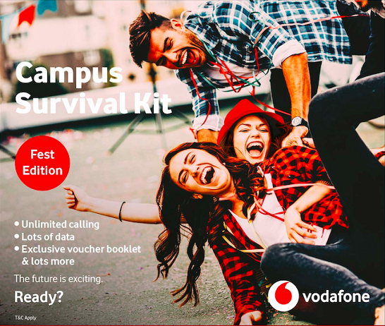 Vodafone Students Plan Get 90GB Data + Unlimited Calls.