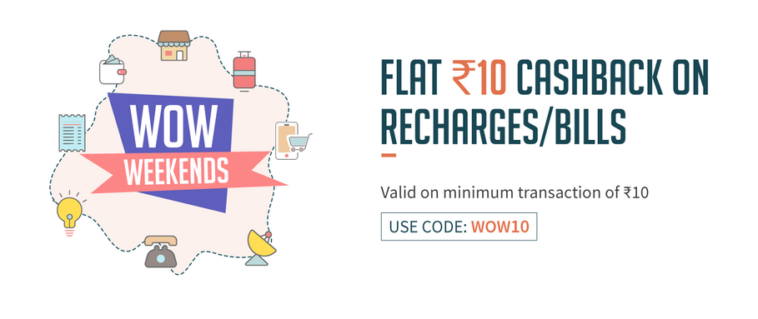 Freecharge Get Rs 10 Cashback on Recharge of 10