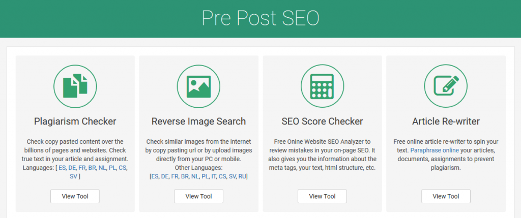 Plagiarism checker by Prepost SEO