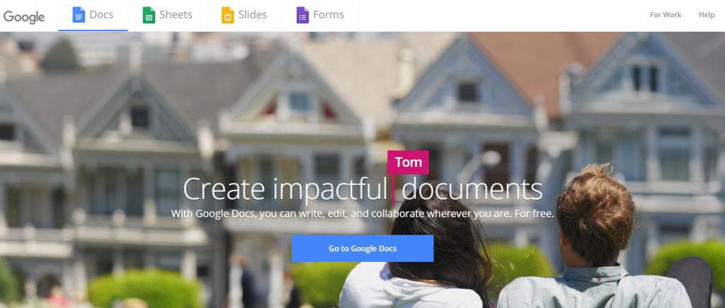 Google Docs Free Online Office Tools