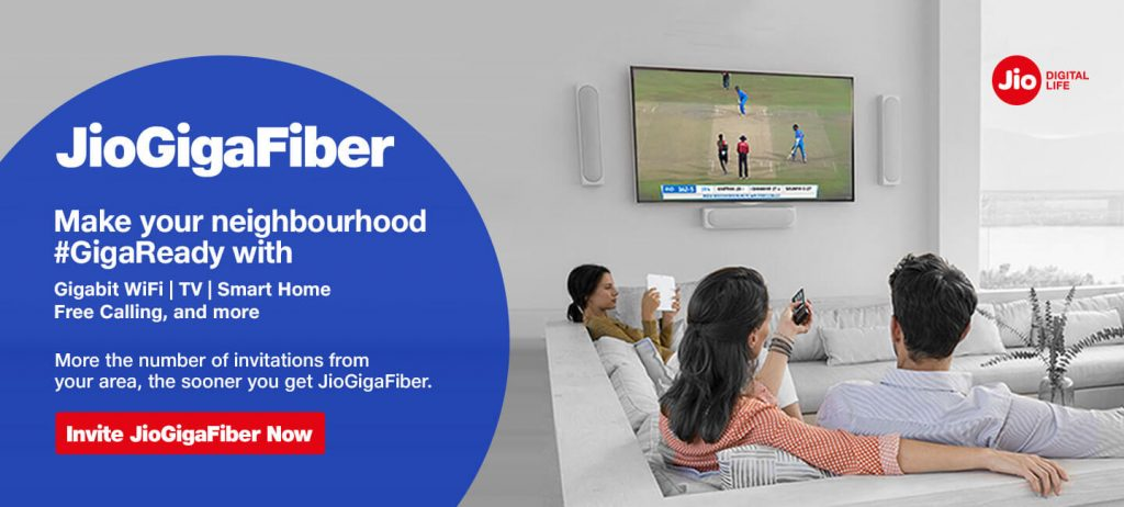 Reliance Jio GigaFiber Launching on August 12 Offers 1 Gbps Internet Speed + Jio GigaTV Services